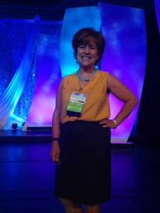 Here I am posing on the big stage at the eWomenNetwork Conference!